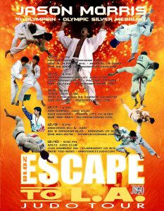 Jason Morris Judo Center - Escape to L.A. Judo Tour Poster
